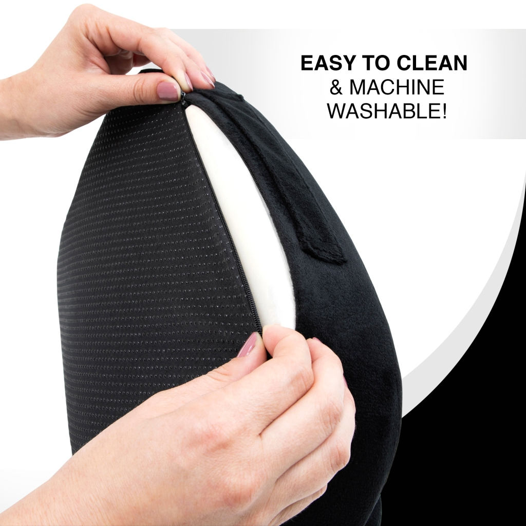 image showing the cover of the cushion is easy to remove and clean it and is also machine washable